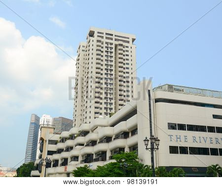 High Rise Building In The Center Of Singapore