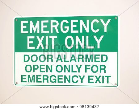 Emergency Exit sign on a wall