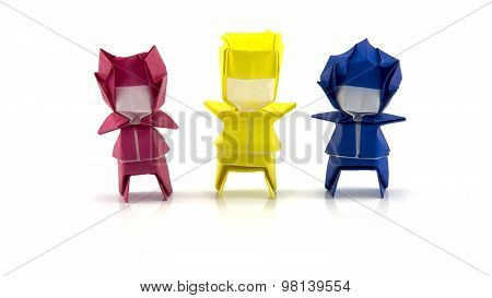 Three Boys Origami