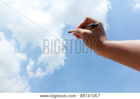 Imagination To Write Something On The Air.