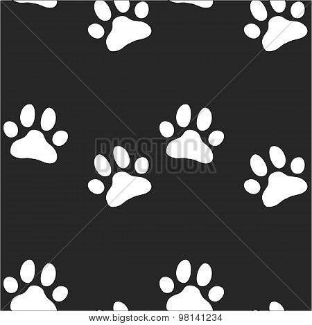Paw zoo pattern for animal and textile
