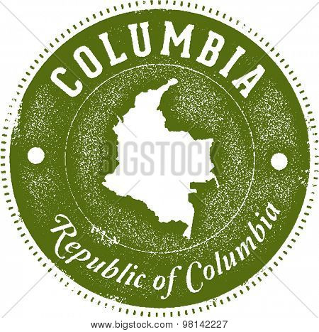 Columbia South America Country Stamp