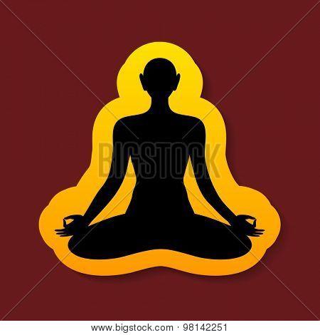 Yoga - sign template . The idea of the logo for yoga, spirituality, esoteric, meditation etc..