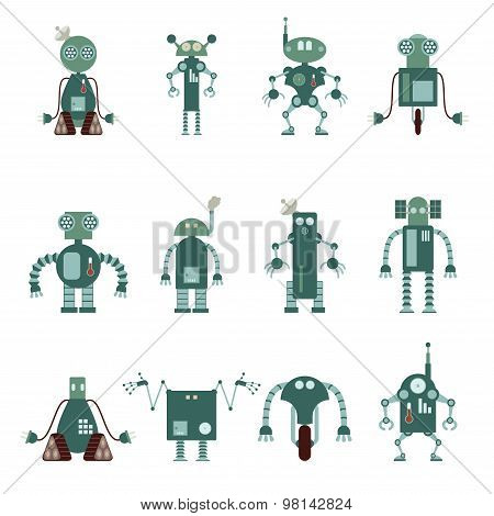 Collection of robot icons