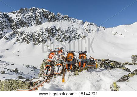 Comparison Of Crampons In The Mountains
