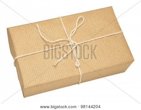 Brown Paper Covered Parcel Tied With String