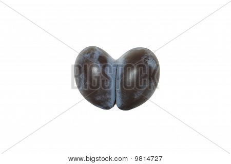 Plum in the form of heart