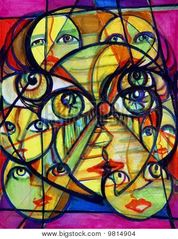 Surreal Faces And Eyes