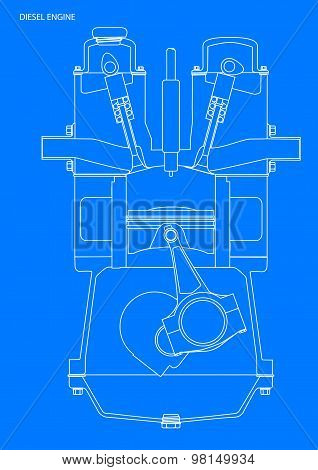 Diesel Engine Blueprint