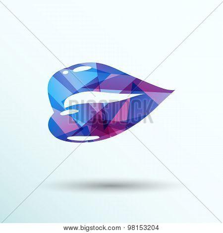 kiss lips vector lipstick icon passion symbol people female