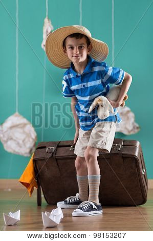 Little Traveler With Big Valise