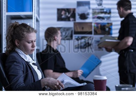 Woman Working In Criminal Department