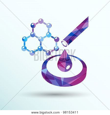 hexagonal abstract icons business and communication concepts