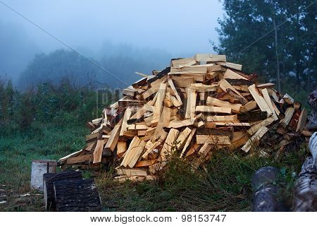 Wood The Prepared In The Winter.