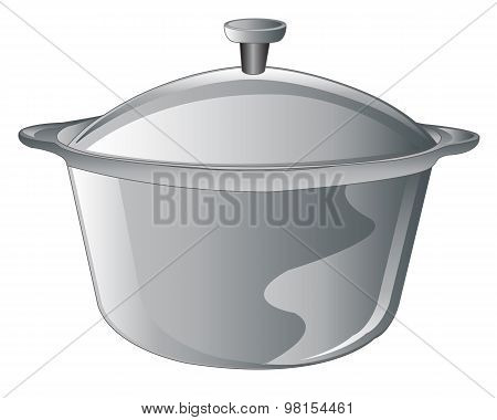 Saucepan on white
