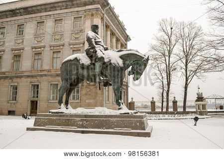 The monument to Emperor Alexander III in St. Petersburg