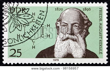 Postage Stamp Germany 1979 Friedrich August Kekule, Chemist