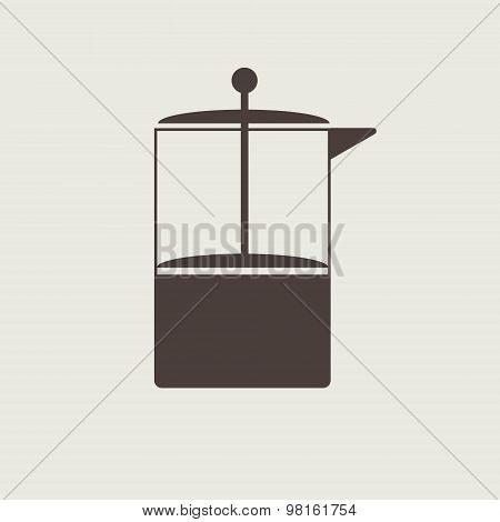 Coffe press vector