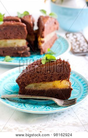 Chocolate And Mint Cake