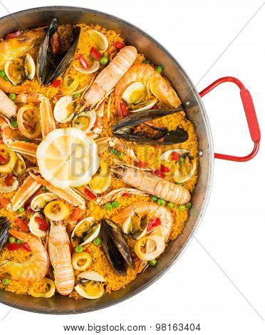 Paella - Traditional Spanish Food, Top View