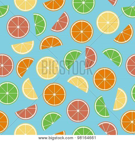 Colorful Citrus Seamless Pattern