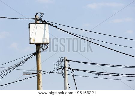 Power Poles In Bulgaria
