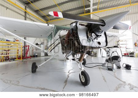 Repairing Small Propeller Airplane