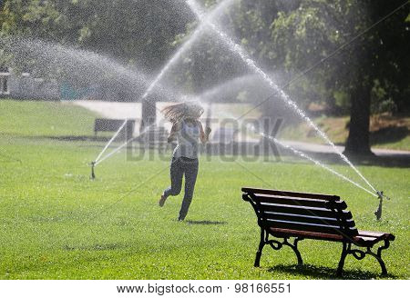 Girl Park Water