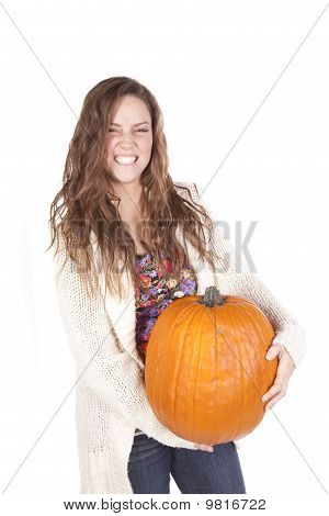 Flower Shirt Pumpkin Smile