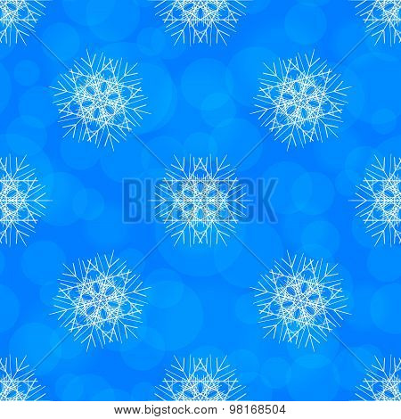 Abstract Vector Seamless Pattern With Snowflake