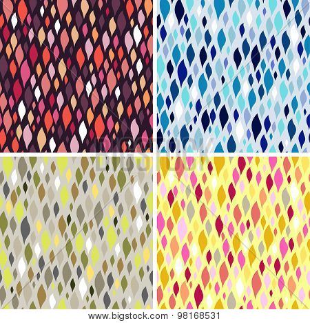 Vector Colorful Tiles. Abstract Seamless Pattern