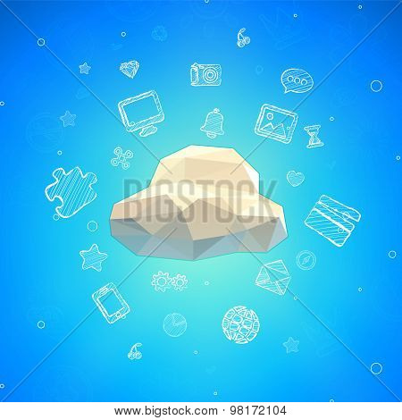 Cloud Lowpoly Illustration