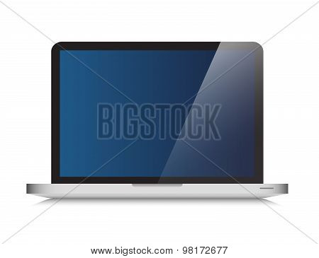 Laptop graphic with blank screen