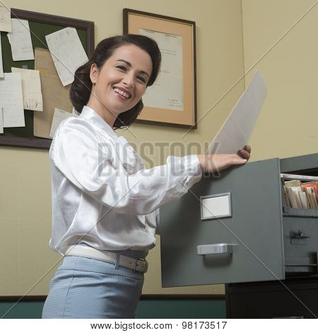 Cheerful Secretary At Work