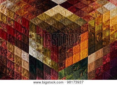 Detail Of The Quilt From Diamond Pieces