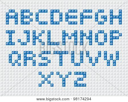 Constructor  Letters Blue