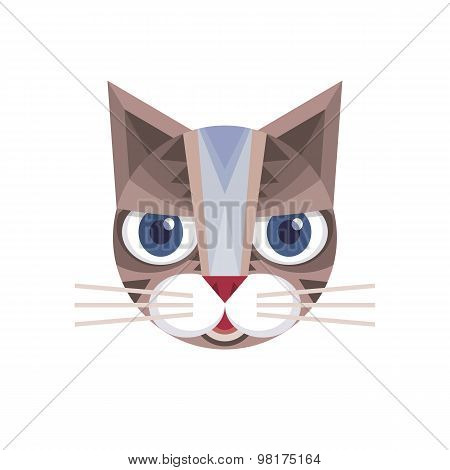 Cat head - vector sign illustration. Cat logo. Cat animal symbol. Cat head vector concept.