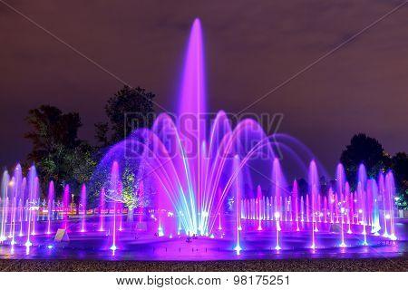 Warsaw. Singing Fountain.