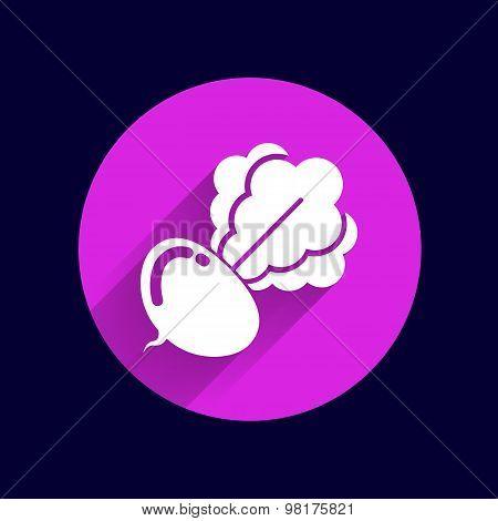 Radish abstract isolated logo beetroot food vector