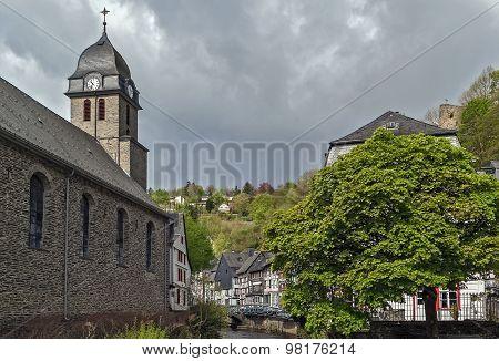 Church In Monschau, Germany