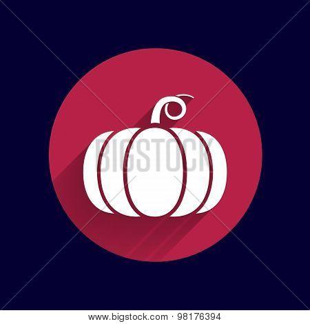 Vector monochrome illustration of pumpkin logo vector