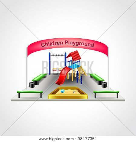 Children Playground Isolated Vector Illustration