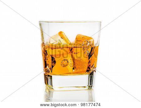 Whiskey On White Background Isolated