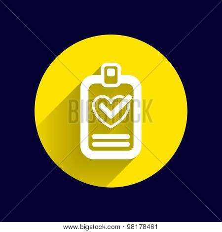 heart and tick icon health medical sign symbol