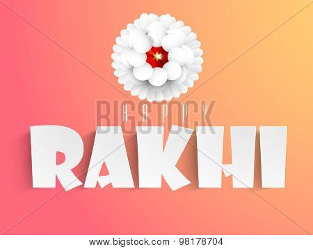 Indian festival Happy Raksha Bandhan celebrations greeting card design.