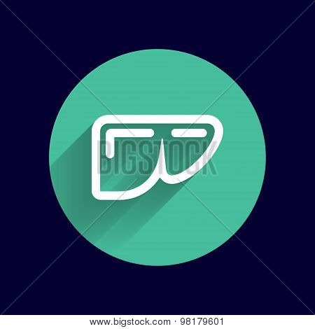icon liver human vector illustration of modern
