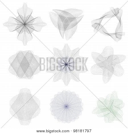 Guilloche decorative elements