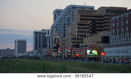 Atlantic City Boardwalk in New Jersey