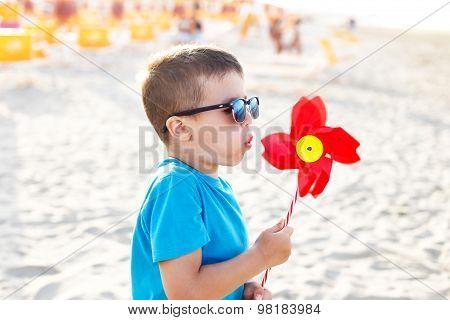 Little Boy Blow Pinwheel
