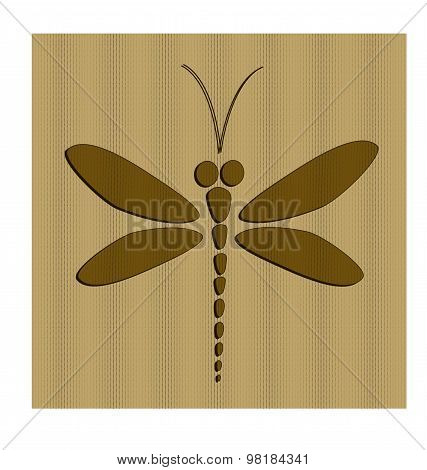 Brown vector dragonfly